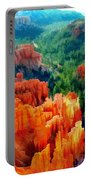 Hues Of The Hoodoos In Bryce Canyon National Park Portable Battery Charger