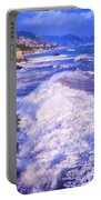 Huge Wave In Ligurian Sea Portable Battery Charger