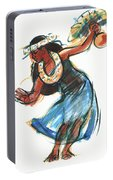 Hula Dancer With Uli Portable Battery Charger