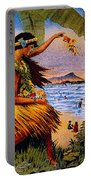 Hula Flower Girl 1915 Portable Battery Charger