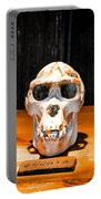 Human Female Male Gorilla Skulls Portable Battery Charger by Gary Keesler