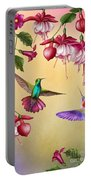 Humming Birds And Fuchsia-jp2784 Portable Battery Charger