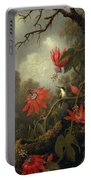 Hummingbird And Passionflowers Portable Battery Charger