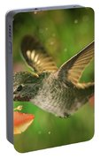 Hummingbird And The Monkey Flowers Portable Battery Charger