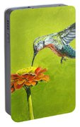 Hummingbird At Flower Portable Battery Charger
