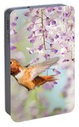 Hummingbird At Wisteria Portable Battery Charger