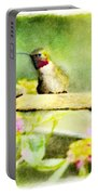 Hummingbird Attitude - Digital Paint 1 Portable Battery Charger