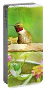 Hummingbird Attitude - Digital Paint 2 Portable Battery Charger