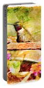 Hummingbird Attitude - Digital Paint 4 Portable Battery Charger