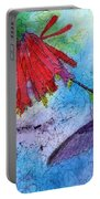 Hummingbird Batik Watercolor Portable Battery Charger