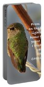 Hummingbird Christmas Card Portable Battery Charger