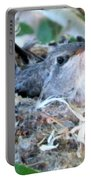 Hummingbird In Nest 2 Portable Battery Charger