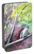 Hummingbird In The Garden Portable Battery Charger