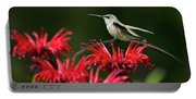Hummingbird On Flowers Portable Battery Charger