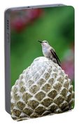 Hummingbird On Garden Water Fountain Portable Battery Charger