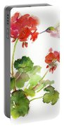 Hummingbird With Geranium Portable Battery Charger