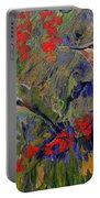 Hummingbirds 2, Abstract Art Portable Battery Charger