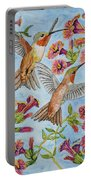 Hummingbirds And Hibiscus II Portable Battery Charger
