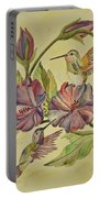 Hummingbirds And Hibiscus Portable Battery Charger