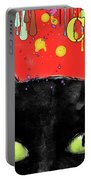 humorous Black cat painting Portable Battery Charger