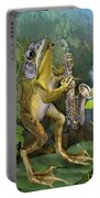 Humorous Frog Plying Saxophone Portable Battery Charger
