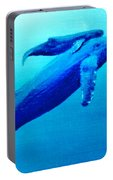 Humpback Mother Whale And Calf  #11 Portable Battery Charger