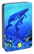 Humpback Whales Hawaii An Reef #14 Portable Battery Charger