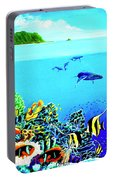 Humpback Whales, Reef Fish #252 Portable Battery Charger
