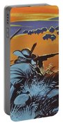 Hunting Buffalo In America Portable Battery Charger