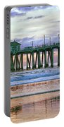 Huntington Beach Pier Panorama Colo Portable Battery Charger