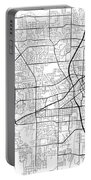 Huntsville Alabama Usa Light Map Portable Battery Charger