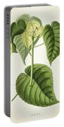 Hura Botanical Print Portable Battery Charger