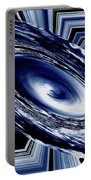 Hurricane In Space Abstract Portable Battery Charger