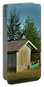 Hut With Green Boat Portable Battery Charger