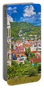 Hvar Architecture And Nature Vertical View Portable Battery Charger
