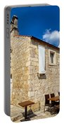 Hvar Old Stone Church And Antic Steps Portable Battery Charger