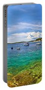 Hvar Yachting Beach Panoramic View Portable Battery Charger