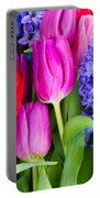 Hyacinth And  Tulip Flowers Portable Battery Charger