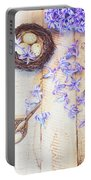 Hyacinth Flowers And Nest Portable Battery Charger