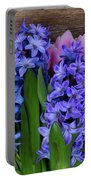 Hyacinths And Tulips II Portable Battery Charger