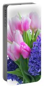 Hyacinths And Tulips  Portable Battery Charger