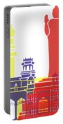 Hyderabad Skyline Pop Portable Battery Charger