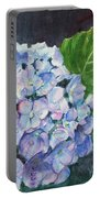 Hydrangea And Water Droplet Portable Battery Charger