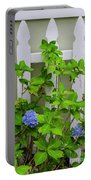 Hydrangea Blooming In October Portable Battery Charger
