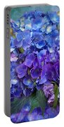 Hydrangea Bouquet - Square Portable Battery Charger