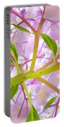 Hydrangea Flower Inside Floral Art Prints Baslee Troutman Portable Battery Charger