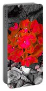 Hydrangea In Carmine Portable Battery Charger