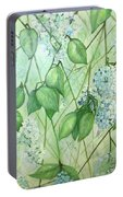 Hydrangea In Green Portable Battery Charger