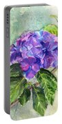 Hydrangea On Clayboard Portable Battery Charger