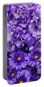 Hydrangeas And Daisies So Purple Portable Battery Charger